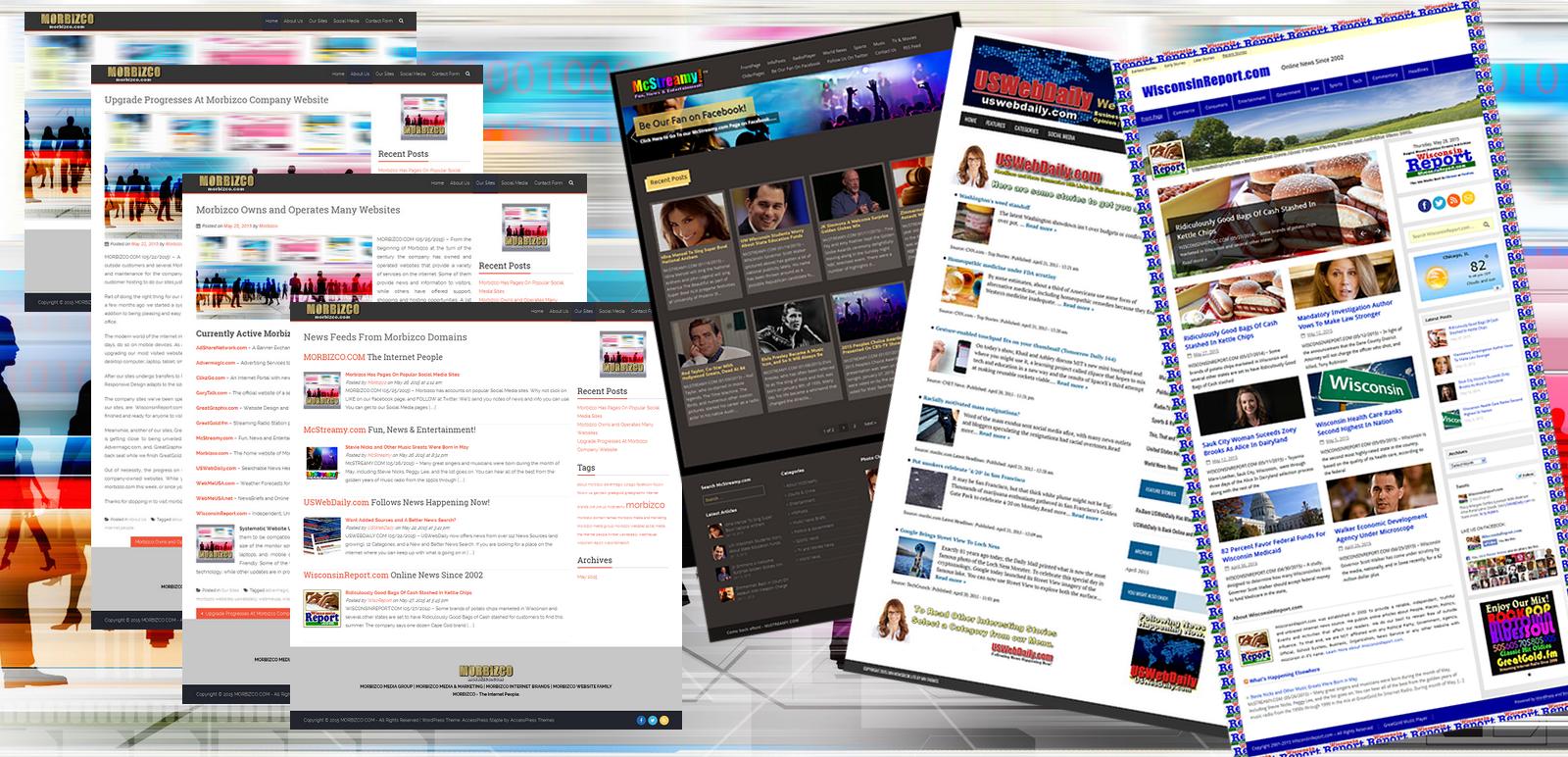 4 Morbizco Internet Media Sites Offer News and Info